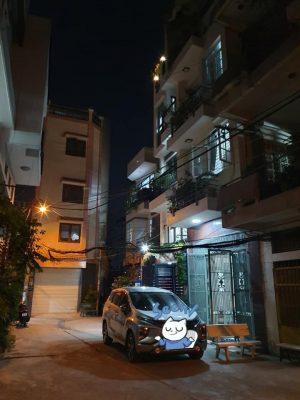 Bán nhà Nơ Trang Long – Hẻm trước nhà thông thoáng